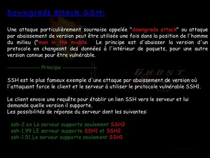 """Downgrade attack SSH: Une attaque particulièrement sournoise appelée """" downgrade attack """" ou attaque   par abais..."""