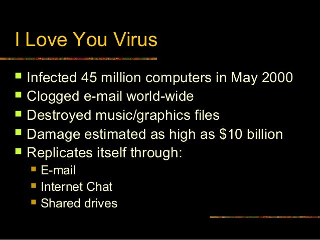 ilove you virus rejected thesis of A year after the melissa virus hit the internet, a digital menace emerged from the philippines unlike the melissa virus, this threat came in the form of a worm -- it was a standalone program capable of replicating itself it bore the name iloveyou the iloveyou virus initially traveled the internet.