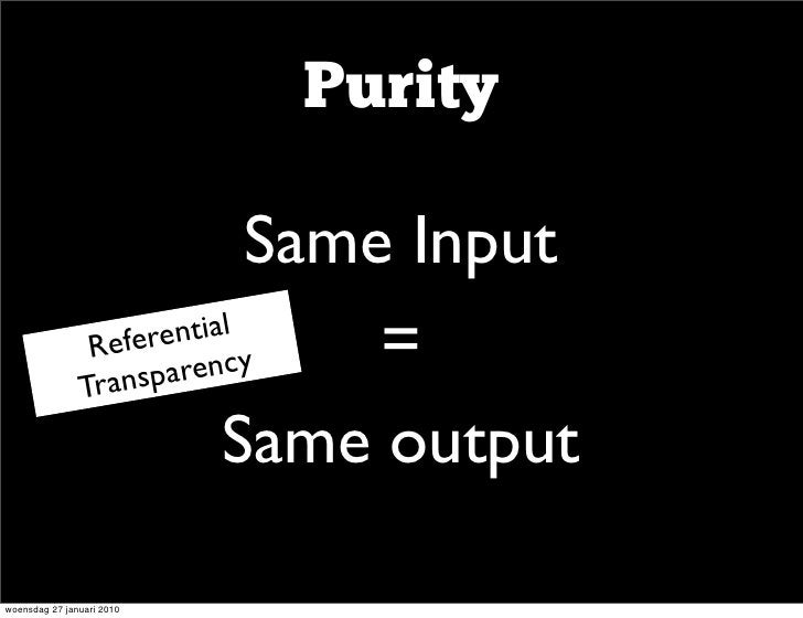 Purity               •               Same Input              •         ntial                 Refere cy                Tran...
