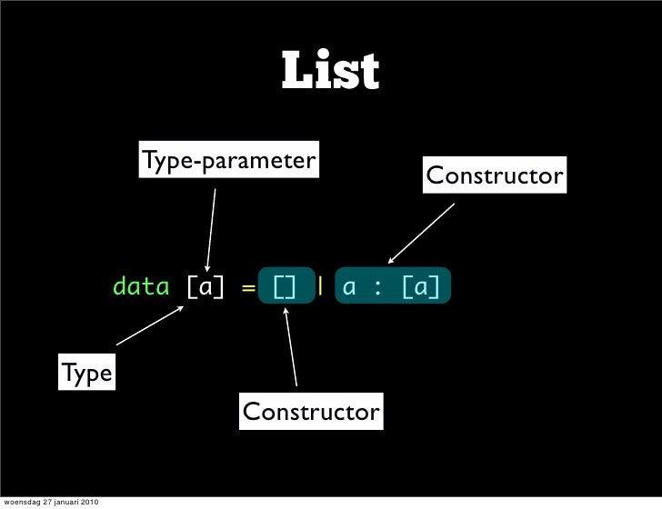 List                              Type-parameter                                                    Constructor           ...