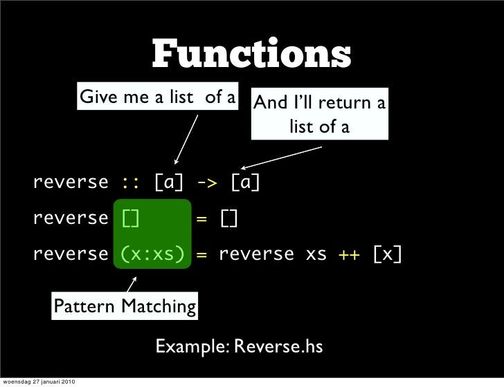 Functions                            Give me a list of a And I'll return a                                                ...