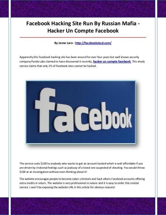 Facebook Hacking Site Run By Russian Mafia - Hacker Un Compte Facebook ___________________________________________________...