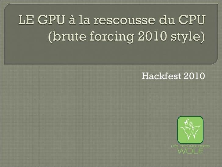 Hackfest 2010
