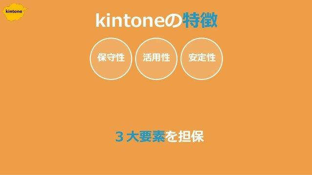 kintoneの特徴 3大要素を担保 安定性活用性保守性