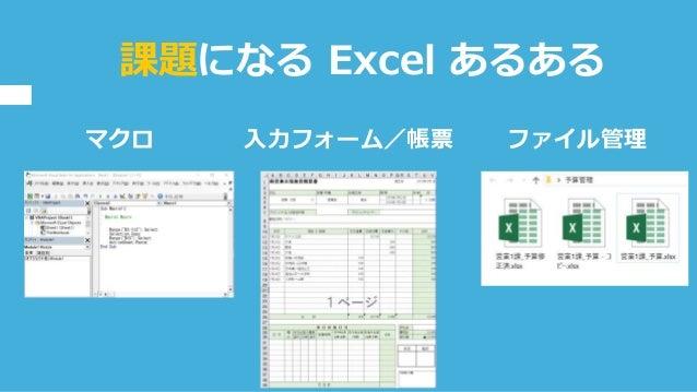 マクロ 課題になる Excel あるある 入力フォーム/帳票 ファイル管理