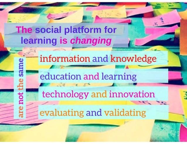 Hacking education: Exploring  informal learning currencies Slide 3