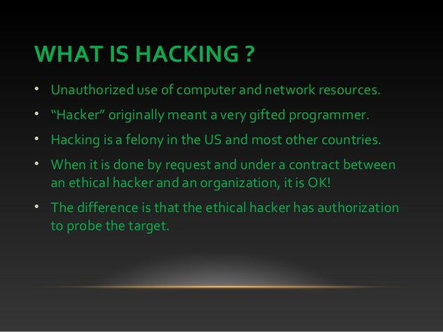 All About Hacking
