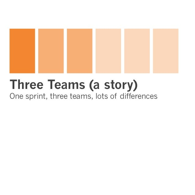 Three Teams (a story) one sprint, three teams, lots of differences