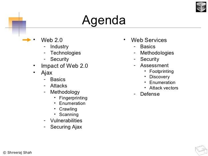 Agenda <ul><li>Web 2.0 </li></ul><ul><ul><li>Industry </li></ul></ul><ul><ul><li>Technologies </li></ul></ul><ul><ul><li>S...