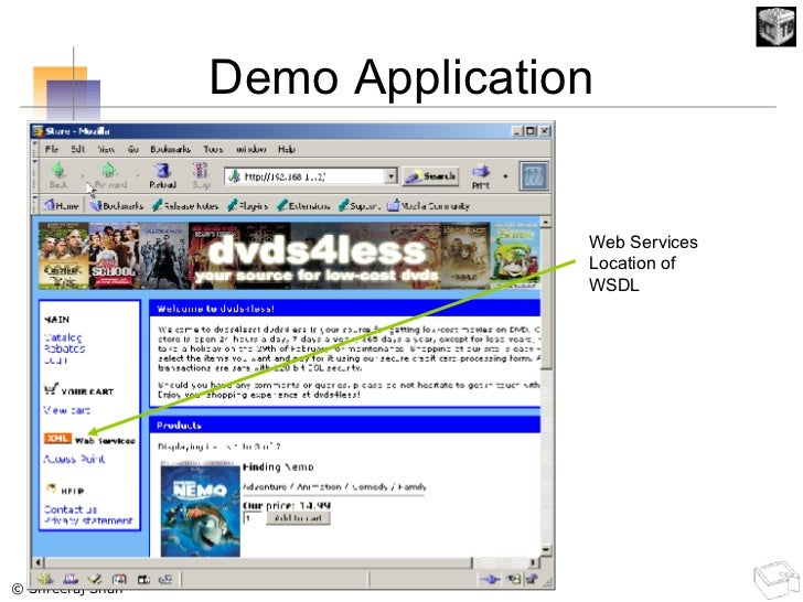 Demo Application Web Services Location of WSDL