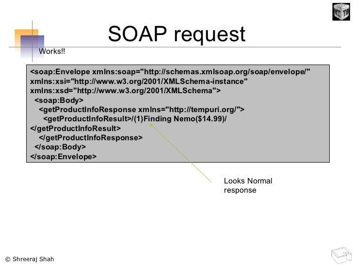 SOAP request <soap:Envelope xmlns:soap=&quot;http://schemas.xmlsoap.org/soap/envelope/&quot; xmlns:xsi=&quot;http://www.w3...