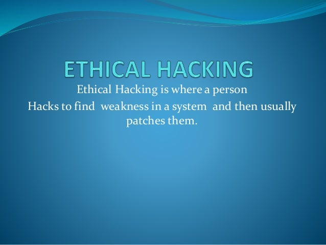 advantages and disadvantages of ethical hacking pdf