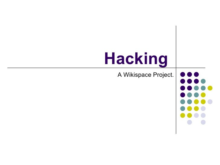 Hacking A Wikispace Project.