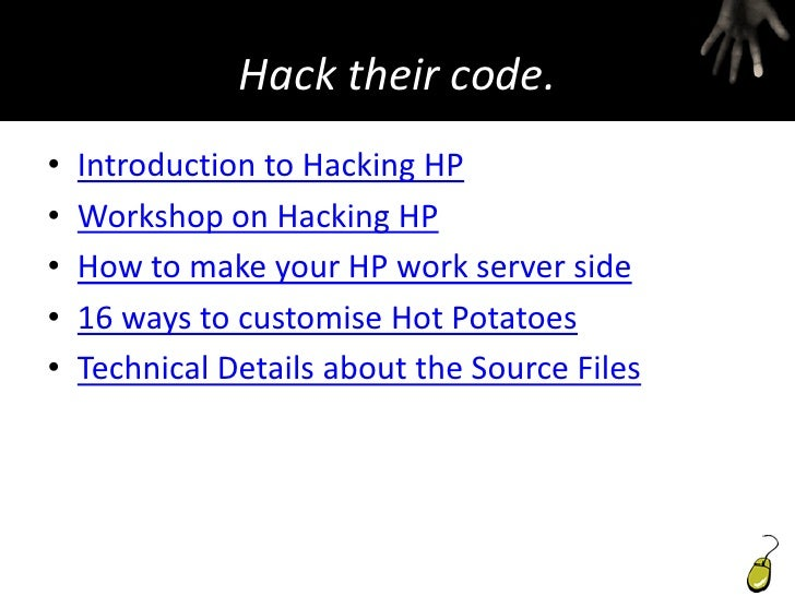 Hacking Hot Potatoes The Cookbook Pdf