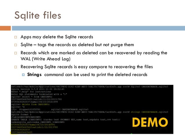 Forensic analysis of SQLite Write-Ahead Log (WAL)