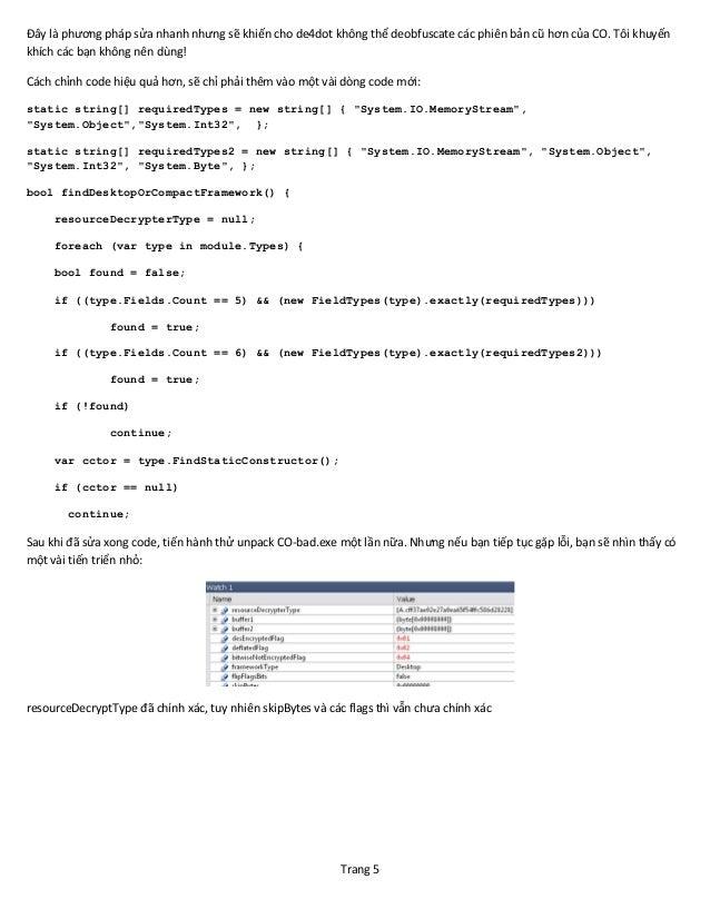 Hacking de4dot for fun - Bài dịch