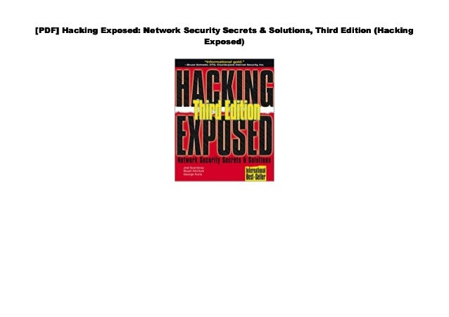 Hacking Exposed Network Security Secrets And Solutions Pdf