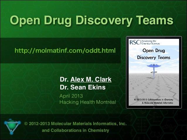 !1Open Drug Discovery TeamsDr. Alex M. ClarkDr. Sean Ekins© 2012-2013 Molecular Materials Informatics, Inc.and Collaborati...