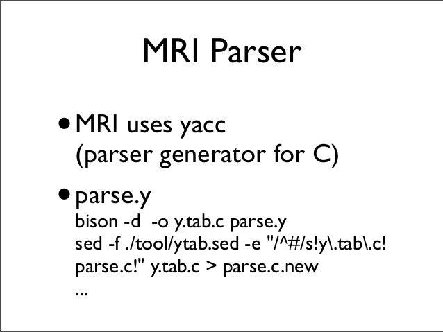 A Bison Parser Hacking parse.y...