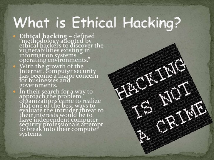 Who are ETHICAL HACHERS ??