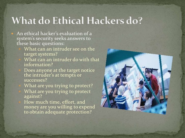 Modes of ETHICAL HACKING ??