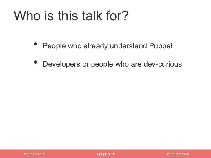 Hacking puppet Slide 2