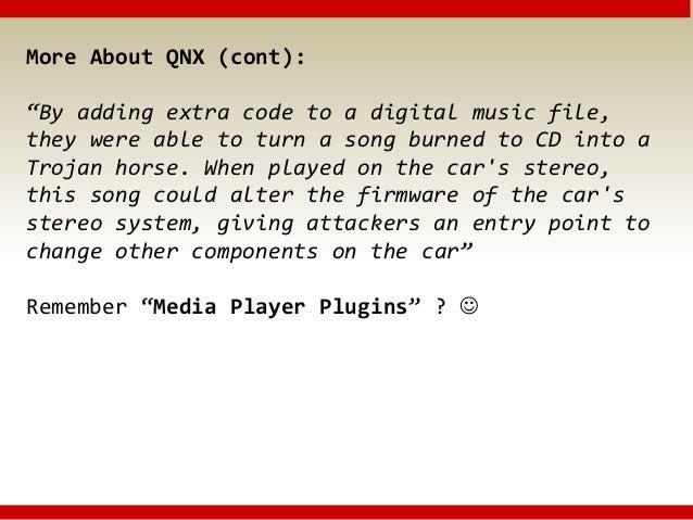 Hacking QNX