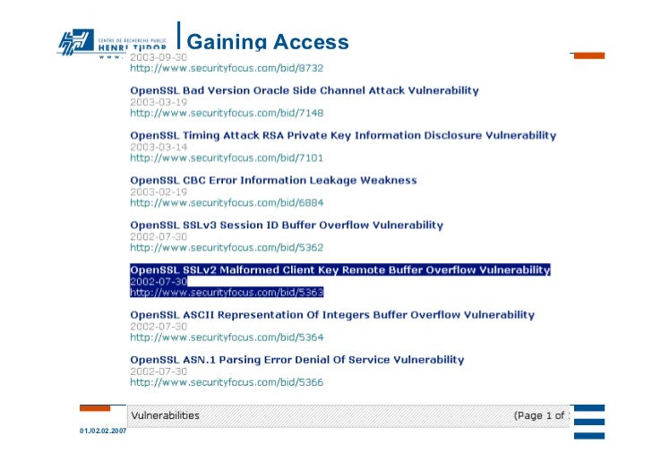 Gaining Access                 -- prepare attack --01./02.02.2007               linuxdays.lu 2007   41