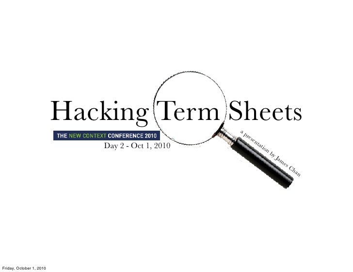 Hacking Term Sheets       ap                                                       res                                    ...