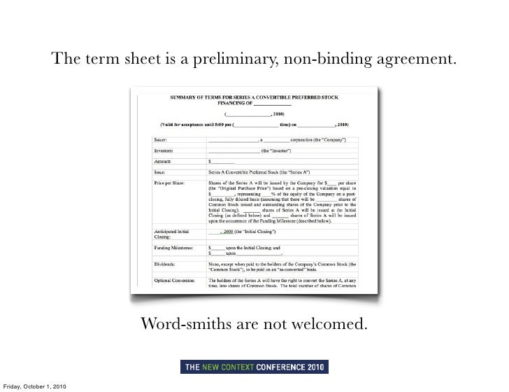 Term Sheet Template Word  BesikEightyCo