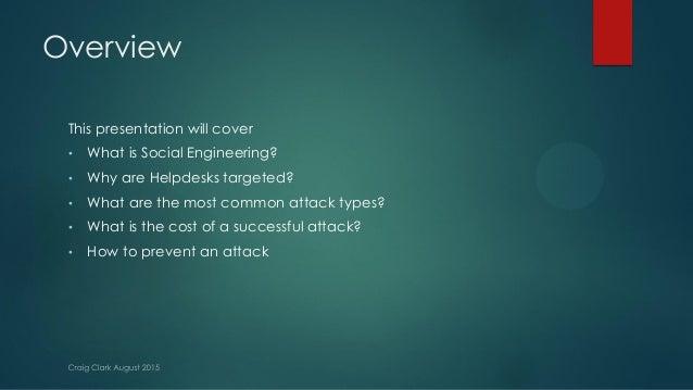 Hacking the Helpdesk, Craig Clark Slide 2