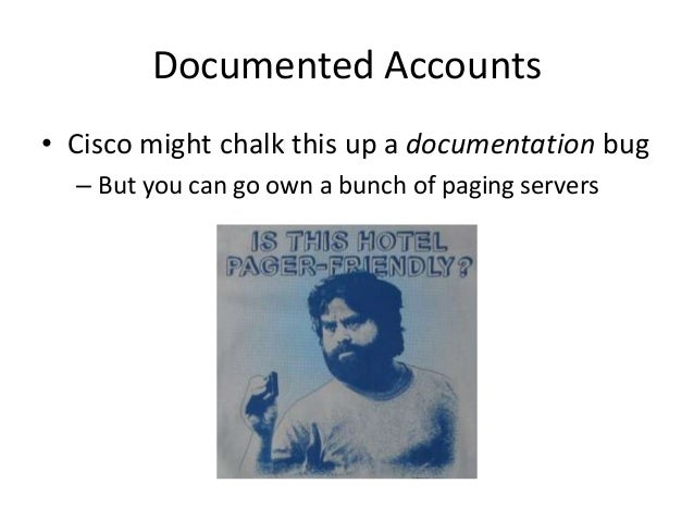 Undocumented Accounts • Loaded 2 password hashes with 2 different salts (bcrypt [Blowfish 32/64 X2]) – password (emcupdate...