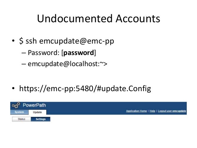 Undocumented Accounts • 6 users on the system with bash shells – 2 users aren't documented