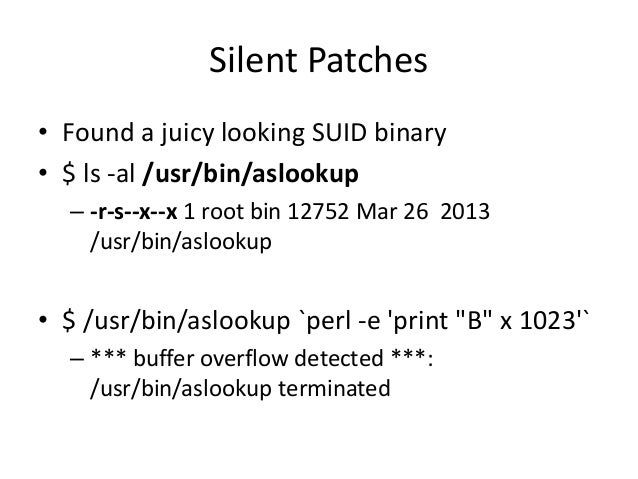 Silent Patches • The latest for public download was v5.3.6 – But this was fixed in v5.3.8 • The perks of being a customer ...