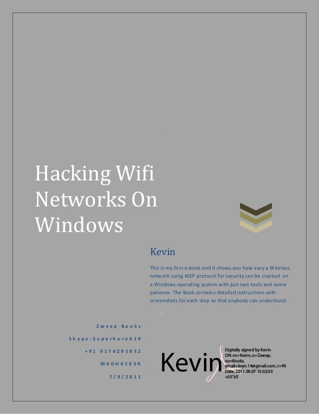 How to Hack WiFi on Windows