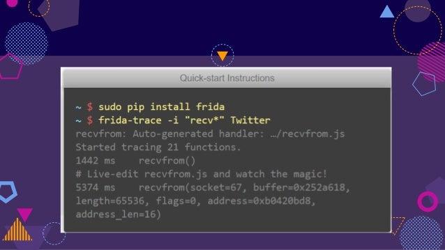 Hacking with frida