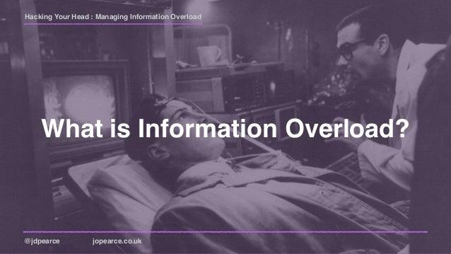 Hacking Your Head : Managing Information Overload (extended) Slide 2