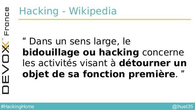 @YourTwitterHandle#DVXFR14{session hashtag} @lhuet35#HackingHome Station m étéo