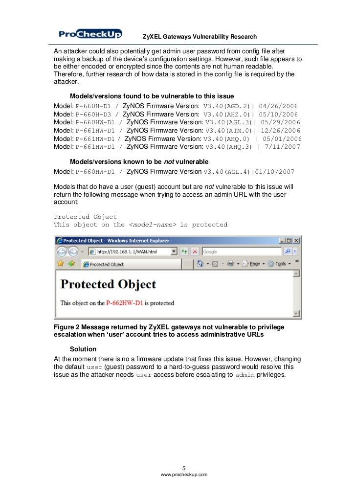 Hacking Zy Xel Gateways