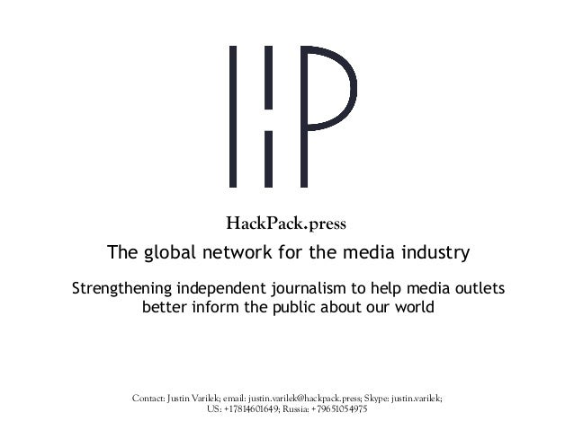 The global network for the media industry Strengthening independent journalism to help media outlets better inform the pub...