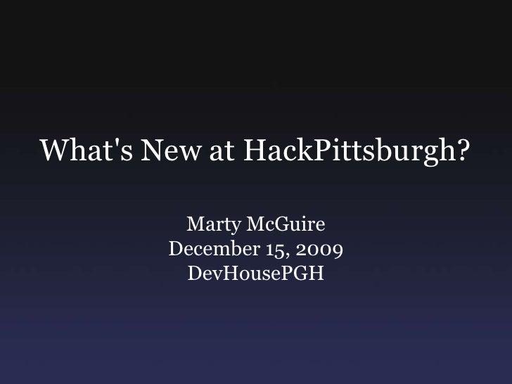 HackPittsburgh Updates For DevHousePgh