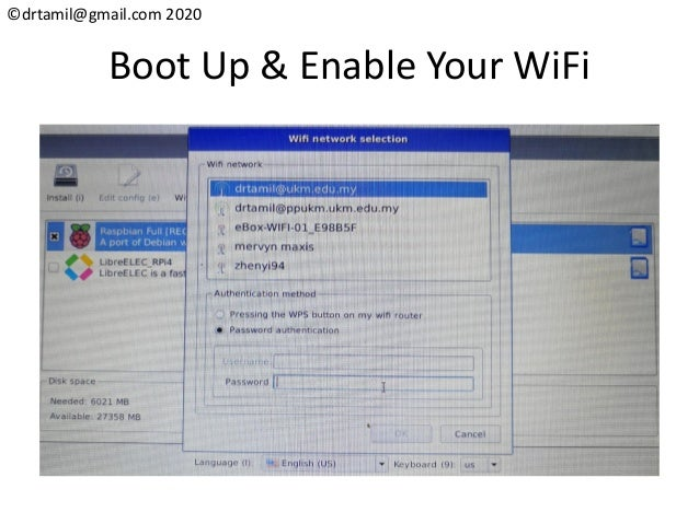 ©drtamil@gmail.com 2020 Boot Up & Enable Your WiFi