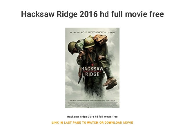 hacksaw ridge torrent yify