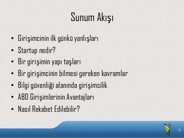 Bilgi teknolojileri alanında girisimcilik  Slide 3