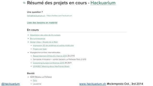 @hackuarium