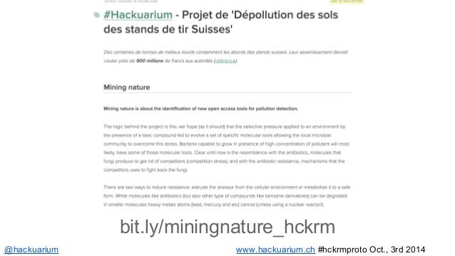 Come next Wed.!  @hackuarium  #OpenHackuarium  www.hackuarium.ch  hello@hackuarium.ch  Most of the pics are CC-BY-NC-SA 3....