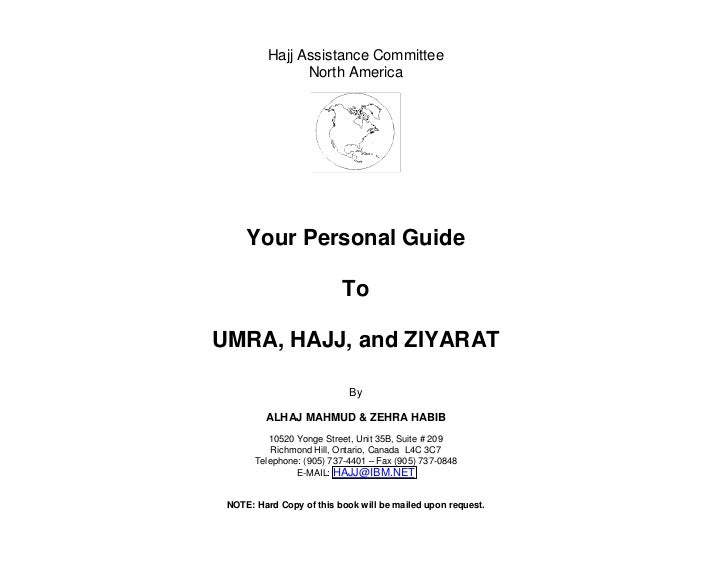 Hajj Assistance Committee                 North America          Your Personal Guide                            To  UMRA, ...