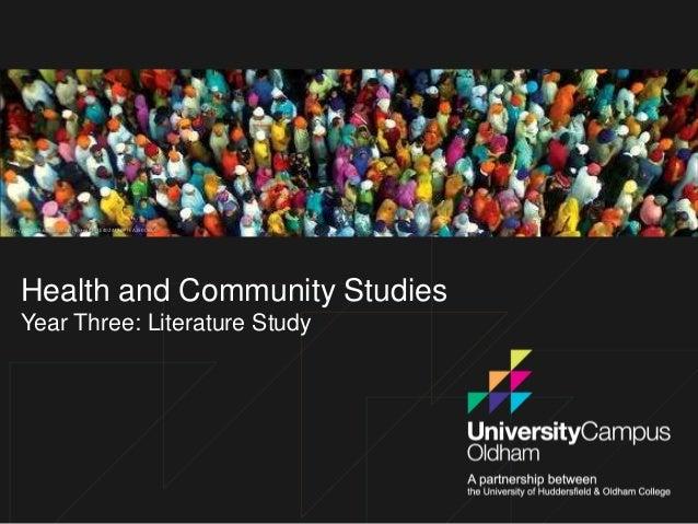 http://cfile225.uf.daum.net/image/177E40244ADFFEA250DB66  Health and Community Studies Year Three: Literature Study