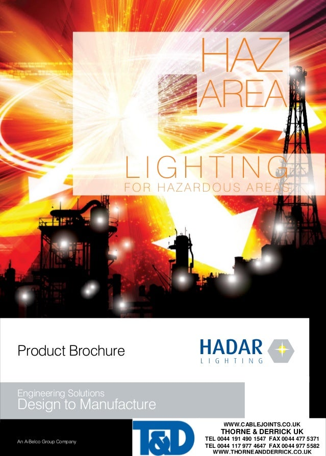 HAZ AREA LIGHTING FOR HAZARDOUS AREAS Product Brochure Engineering Solutions Design to Manufacture WWW.CABLEJOINTS The Hadar ...  sc 1 st  SlideShare & Hadar - Hadar Lighting For Hazardous Areas (Zone 1 u0026 Zone 2 - ATEX Ceu2026 azcodes.com