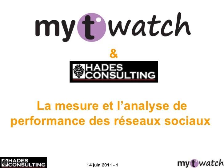 La mesure et l' analyse de performance des réseaux sociaux  &